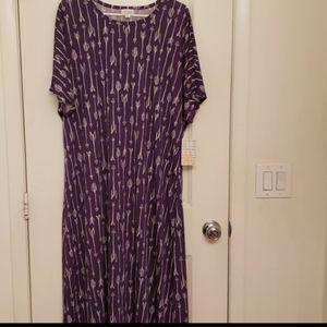Lularoe 3XL Purple Maria Maxi Dress